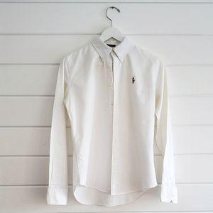 Ralph Lauren Sport | white button down shirt
